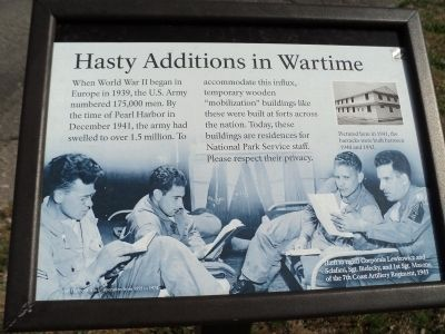 Hasty Additions in Wartime Marker image. Click for full size.