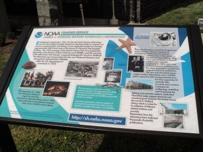 NOAA Fisheries Service Marker image. Click for full size.