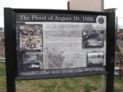 The Flood of August 19, 1955 Marker image. Click for full size.