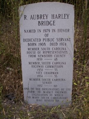 R. Aubrey Harley Bridge Marker image. Click for full size.