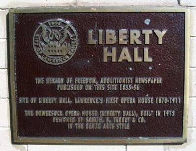 Liberty Hall Marker Photo, Click for full size