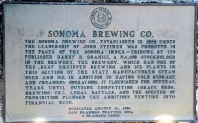 Sonoma Brewing Company Marker image. Click for full size.