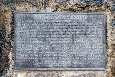 Whiskey Crossing Marker image. Click for full size.