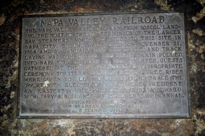 Napa Valley Railroad Marker Photo, Click for full size