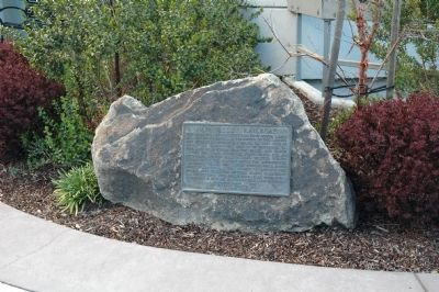 Napa Valley Railroad Marker in Atrium Photo, Click for full size