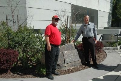 NGH Bill Rash and Napa County Supervisor Brad Wagenknecht at 2012 re-dedication Photo, Click for full size