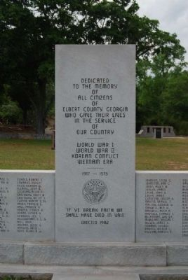 Dedicated to the Memory Marker<br>Center Column Photo, Click for full size