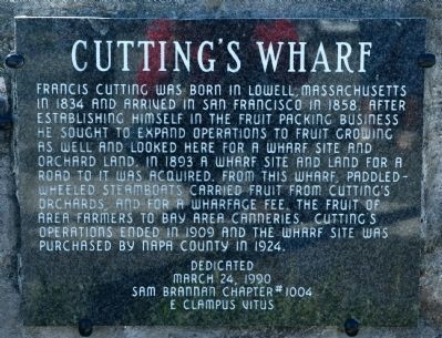 Cutting's Wharf Marker-Granite image. Click for full size.