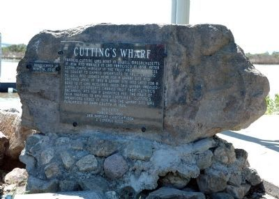 Cutting's Wharf Marker image. Click for full size.