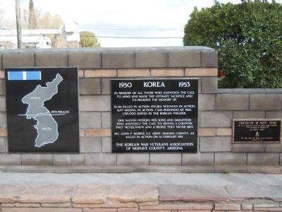 Kingman Veteran's Memorial - Korea Photo, Click for full size