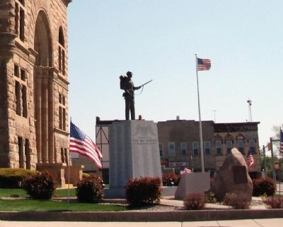 Other View - - Blackford County Revolutionary War Heroes Marker image. Click for full size.