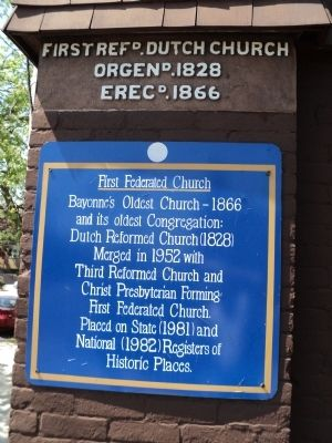 First Federated Church Marker image. Click for full size.