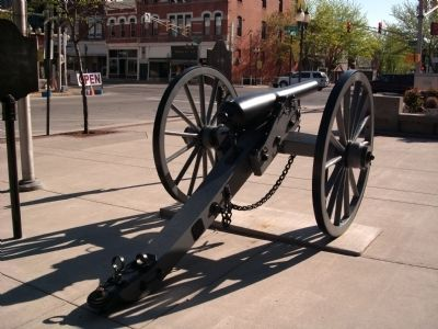 Obverse View - - Wells County 1862 Cannon Photo, Click for full size