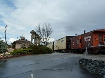 Placer County's First Transcontinental Railroad Commemoration Plaza image. Click for full size.