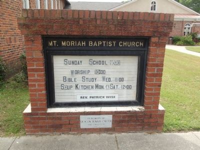 Mt Moriah Baptist Church Sign image. Click for full size.