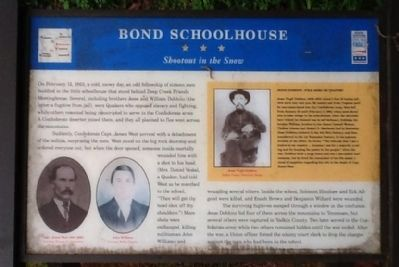 Bond Schoolhouse Marker image. Click for full size.