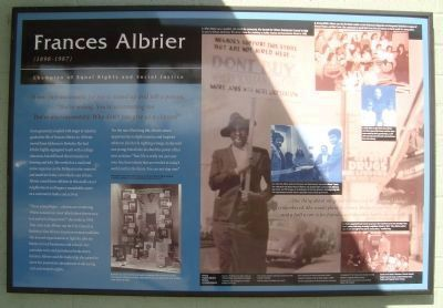 Frances Albrier Marker image. Click for full size.