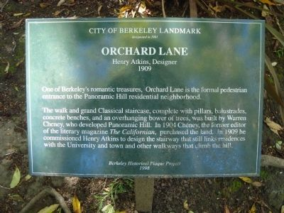 Orchard Lane Marker image. Click for full size.