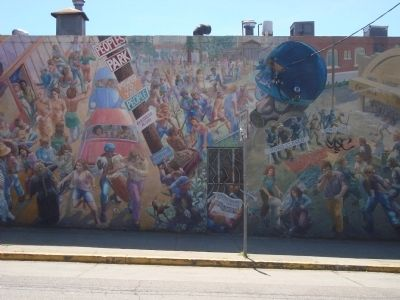 """A People's History of Telegraph Avenue"" Mural, #3 (left to right) image. Click for full size."