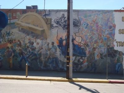 """A People's History of Telegraph Avenue"" Mural, #4 (left to right) image. Click for full size."