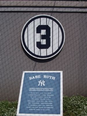 Number 3 Babe Ruth Marker image. Click for full size.