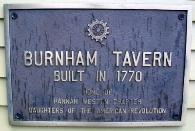 Burnham Tavern Marker Photo, Click for full size