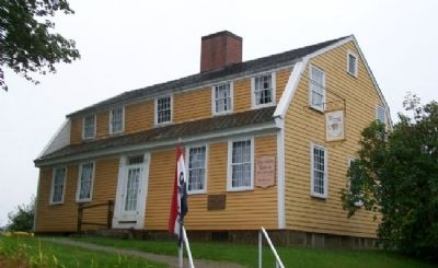 Burnham Tavern and Marker Photo, Click for full size