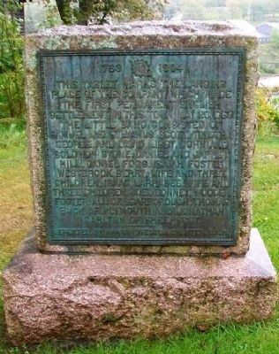First Permanent English Settlement in Machias Bay Marker Photo, Click for full size