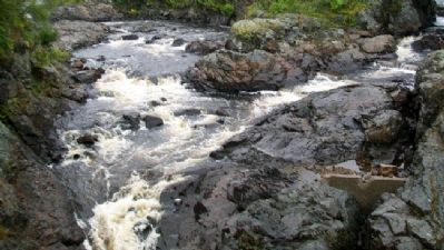 Bad Little Falls on the Machias River Photo, Click for full size