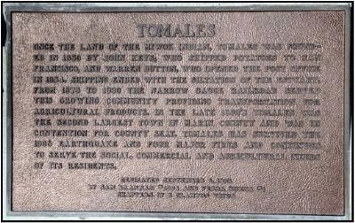 Tomales Plaque image. Click for full size.