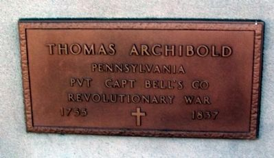 Thomas Archibold - Plaque image. Click for full size.