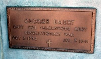 George Emery - Plaque image. Click for full size.