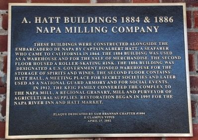 A. Hatt Buildings 1884 & 1886 Plaque image. Click for full size.