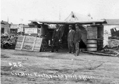 The Lee Brothers and Earthquake Post Office Photo, Click for full size