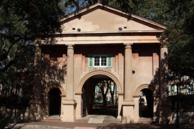 College of Charleston The Gate Lodge, designed by Edward B. White and built in 1852 image. Click for full size.