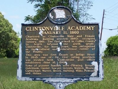 Clintonville Academy Marker image. Click for full size.