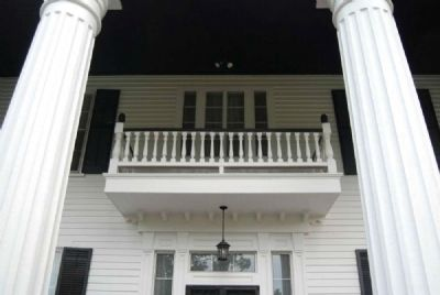 Dr. Samuel Marshall Orr House<br>Central Balcony image. Click for full size.