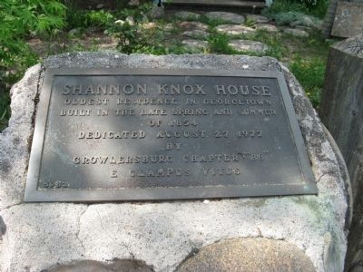 Shannon Knox House Marker image. Click for full size.