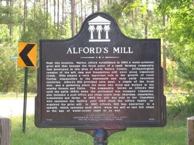 Alford's Mill Marker image. Click for full size.