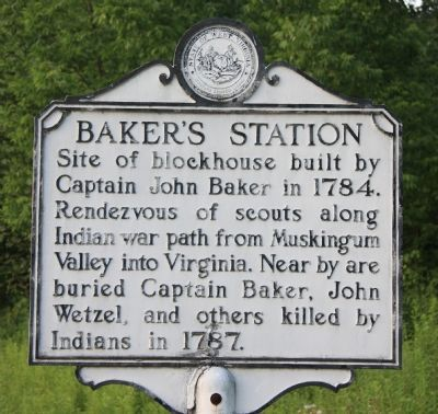 Baker's Station Marker image. Click for full size.