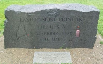 Easternmost Point in the U.S.A. Marker image. Click for full size.