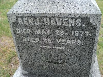 Benny Havens Grave Marker Photo, Click for full size