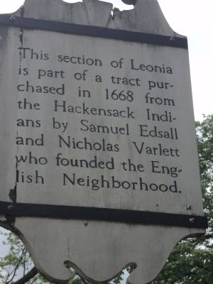 Leonia Tract Marker image. Click for full size.