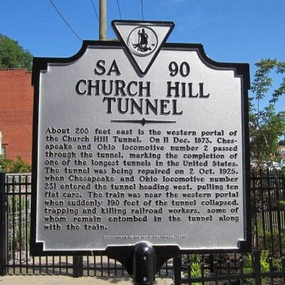 Church Hill Tunnel Marker image. Click for full size.