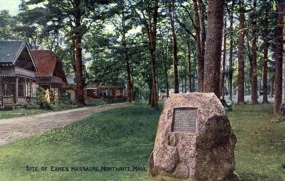 Early Postcard Showing Marker image. Click for full size.