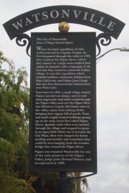 The City of Watsonville Marker image. Click for full size.