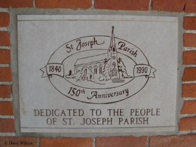St. Joseph Catholic Church 150th Anniversary Brick image. Click for full size.