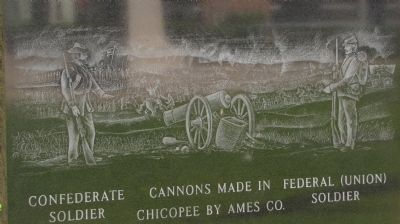 Chicopee Civil War Memorial detail image. Click for full size.