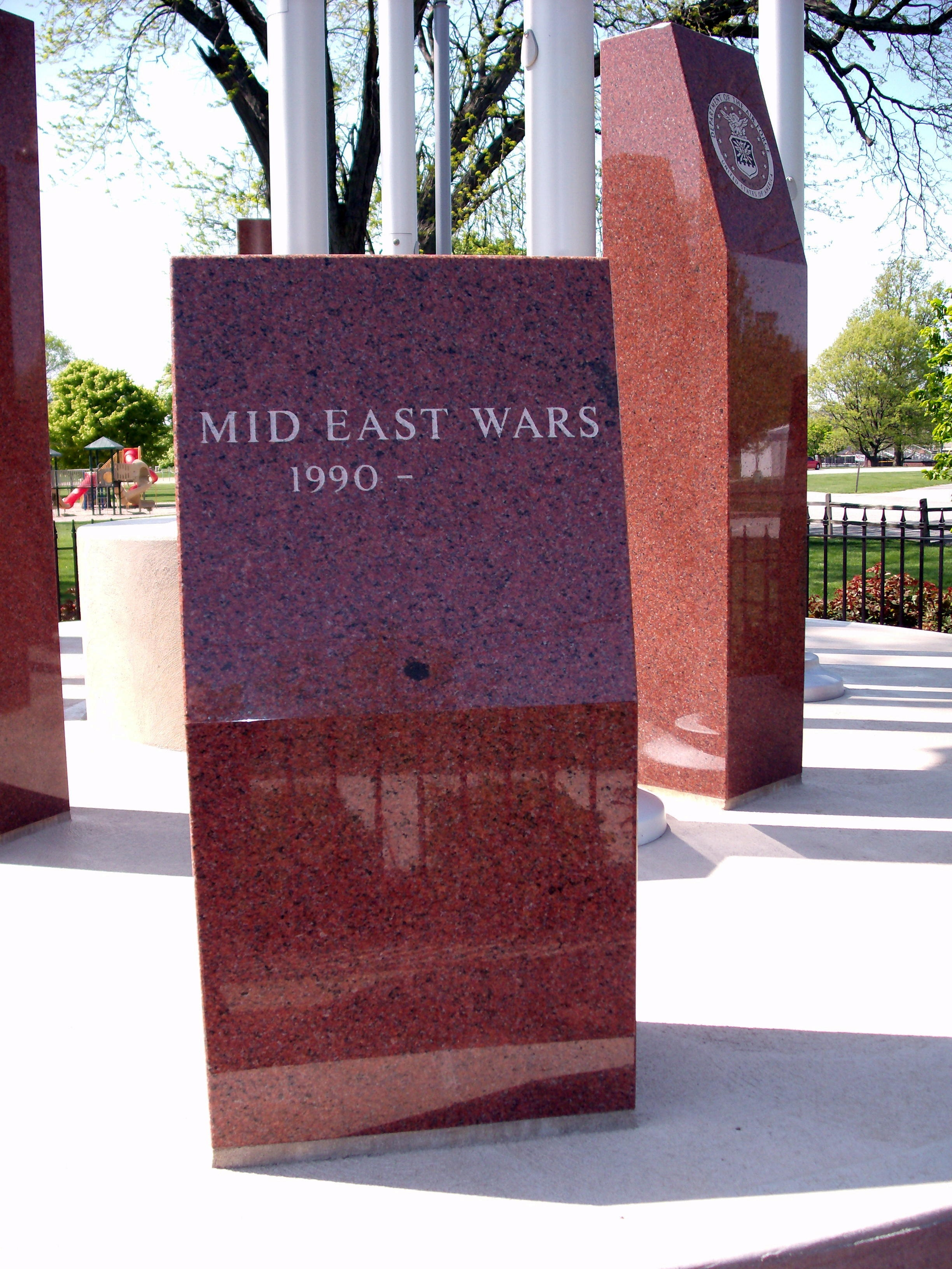 Mid East Wars - - Boone County Veterans Memorial Marker