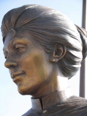 Close-up of female statue. image. Click for full size.